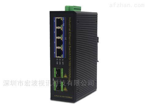 工业级2光4电千兆交换机