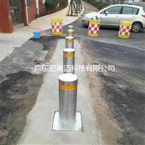 自动回缩伸缩地柱,不锈钢路障升降柱