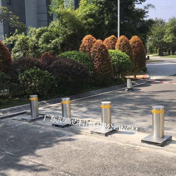 交通升降立柱,不锈钢移动桩,校园防撞路桩