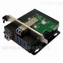 PCI-E转USB3.0光纤扩Ψ 展卡□ ●