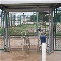 車站景區小區封閉式通道擋閘 十字全高轉閘