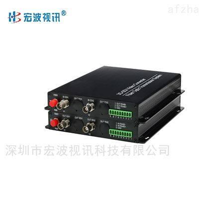 车路协同系统4路正向SDI视频 多业务光端机