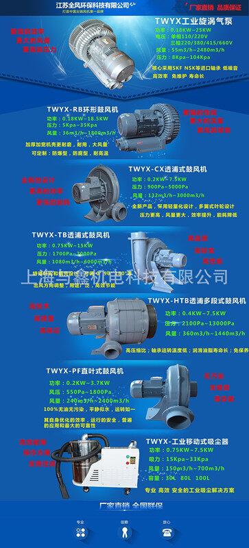 高压风机 旋涡气泵 防爆高压风机 工业用风机示例图6